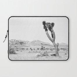 Vintage Desert Scape B&W // Cactus Nature Summer Sun Landscape Black and White Photography Laptop Sleeve