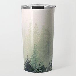 Foggy Pine Trees Travel Mug
