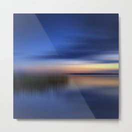 FINLAND Abstract Evening Mood Metal Print