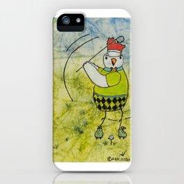 Golfing Chicken iPhone Case