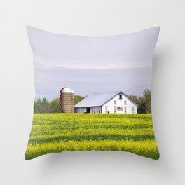 Barn and Silos Throw Pillow