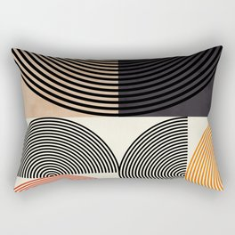 lines & shapes III - abstract geometric Rectangular Pillow