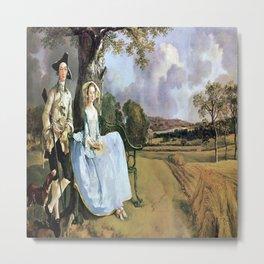 Thomas Gainsborough's Mr. and Mrs. Robert Andrews Metal Print