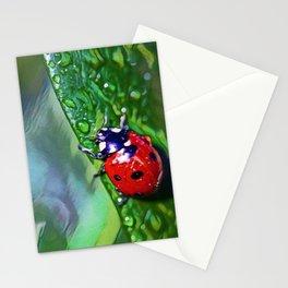 Ladybug Leaf | Painting  Stationery Cards