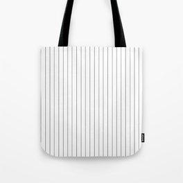 White And Black Pinstripes Lines Stripes Minimalist Stripe Line Tote Bag