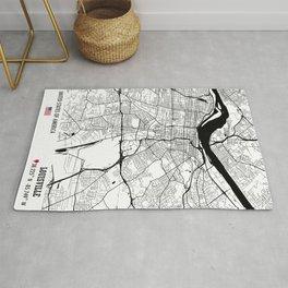 Louisville, USA Road Map Art - Earth Tones Rug