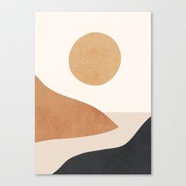 Minimal Abstract Art Landscape 9 Canvas Print