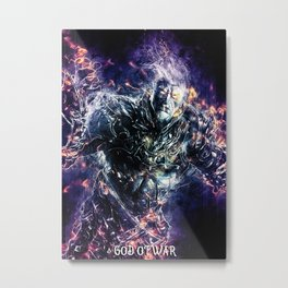 God Of War Fury Metal Print