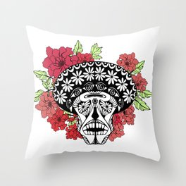 Flower skull. Throw Pillow
