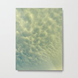 moody bubble clouds Metal Print