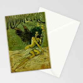 Vintage Parisian Green Fairy Absinthe Alcoholic Aperitif Advertisement Poster Stationery Cards