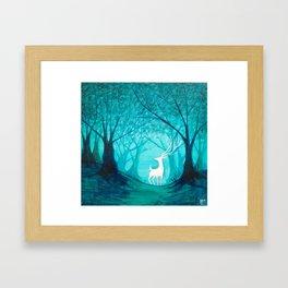 White Stag Framed Art Print