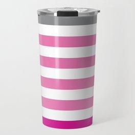 Stripes Gradient - Pink Travel Mug