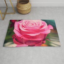 Elegant pink rose Rug