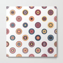Colorful Abstract Random Circles Texture, Background Pattern Metal Print