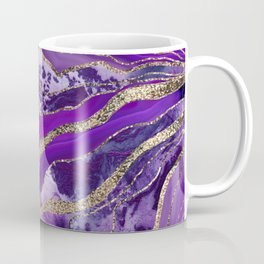 Liquid Marble Agate Glitter Glam #4 (Faux Glitter) #decor #art #society6 Coffee Mug