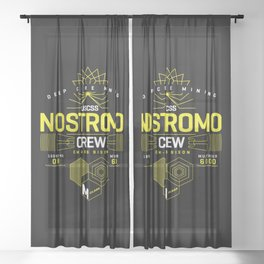 Deep Mining Crew / Nostromo / Alien / Science Fiction / Horror / Typography Sheer Curtain