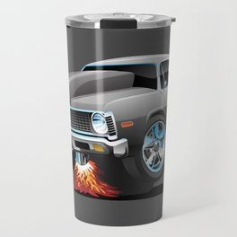 Classic American Muscle Car Hot Rod Cartoon Travel Mug