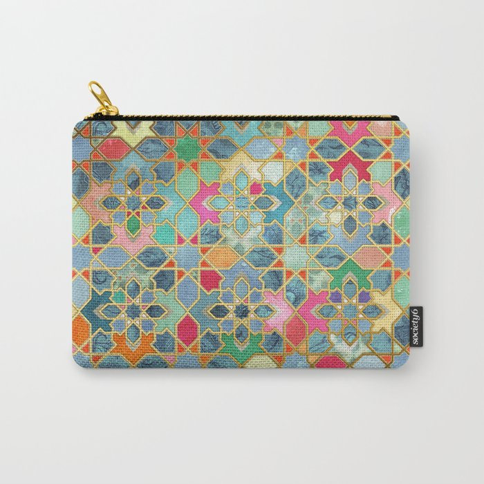 Gilt & Glory - Colorful Moroccan Mosaic Tasche