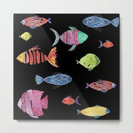 Fishies Black Metal Print
