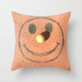 Happy Golfer Throw Pillow