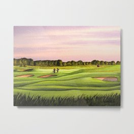Royal Saint Georges Golf Course 9th Hole Metal Print