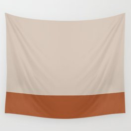 Minimalist Solid Color Block 1 in Putty and Clay Wall Tapestry