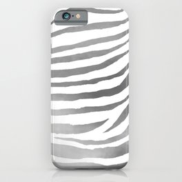 Zebra Pattern In Silver iPhone Case