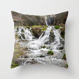 Roughlock Falls, Spearfish Canyon, South Dakota Throw Pillow