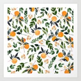 Orange Grove Art Print