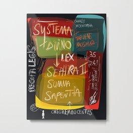 Graffiti Street Art Systema Divino Lex  Metal Print
