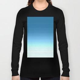 Sea blue Ombre Long Sleeve T-shirt