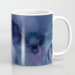 Blue Ink and Black Glitter Coffee Mug