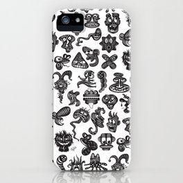 monsterheadz menagerie  iPhone Case