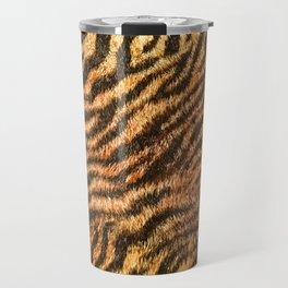 Bengal Tiger Fur Wildlife Print Pattern Travel Mug
