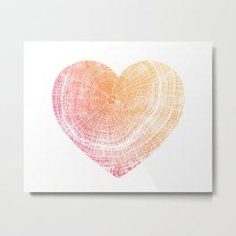 Heart Pressed Tree Stamp Metal Print