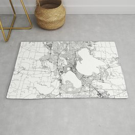 Madison White Map Rug