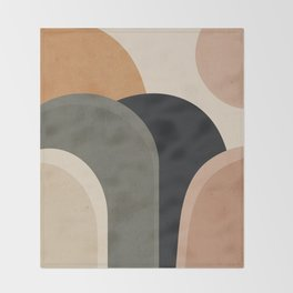 abstract minimal sunrise Throw Blanket