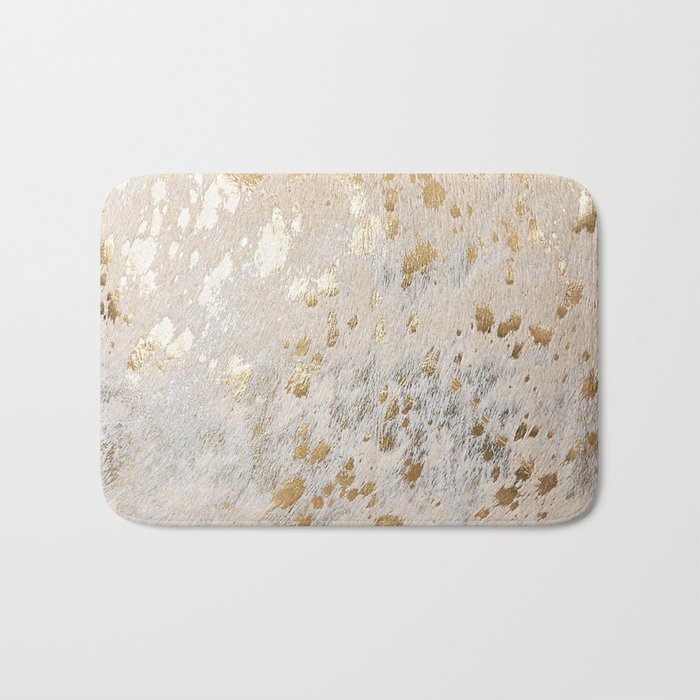 Gold Hide Print Metallic Badematte