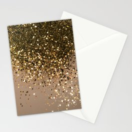 Sparkling Gold Brown Glitter Glam #1 (Faux Glitter) #shiny #decor #art #society6 Stationery Cards