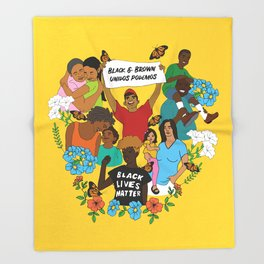 Diversity is Resistance Throw Blanket