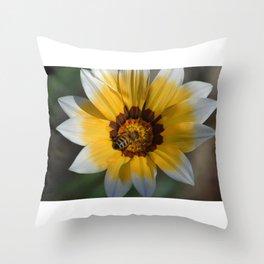 Sunny Bee Throw Pillow