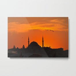 Istanbul Mosque Metal Print
