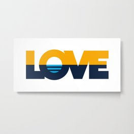 LOVE - People's Flag of Milwaukee Metal Print