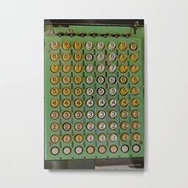 Vintage Mechanical Number Adding Machine Metal Print