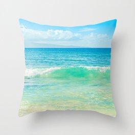 Ocean Blue Beach Dreams Throw Pillow
