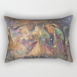 Psychedelic Egyptian Hieroglyphic art Rectangular Pillow