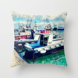 Trapani art 16 Sicily Throw Pillow
