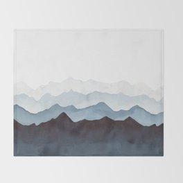 Indigo Mountains Landscape Throw Blanket