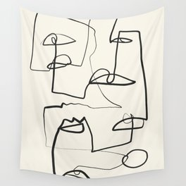 Abstract line art 12 Wall Tapestry